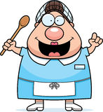 Cartoon Lunch Lady Idea Stock Photo