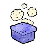 Cartoon lunchbox. Retro cartoon with texture. Isolated on White Stock Photos