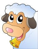 Cartoon lurking sheep Stock Images