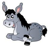 Cartoon lying donkey Stock Photo