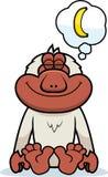 Cartoon Macaque Dreaming Royalty Free Stock Photos
