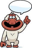 Cartoon Macaque Talking Royalty Free Stock Image