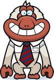 Cartoon Macaque Tie Royalty Free Stock Photo