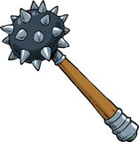 Cartoon mace Royalty Free Stock Photo