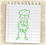 Cartoon mad on paper note, vector illustration Stock Images
