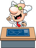 Cartoon Mad Scientist Blueprints Royalty Free Stock Images