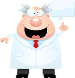 Cartoon Mad Scientist Idea Royalty Free Stock Photo