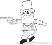 Cartoon Mafia Boss Tiptoeing Royalty Free Stock Images