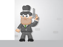 Cartoon Mafia Boss Waiting Stock Photo
