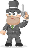 Cartoon Mafia Boss Waiting Stock Images