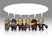 Cartoon mafia card Stock Images