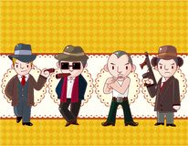 Cartoon mafia card Royalty Free Stock Photo