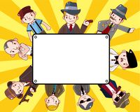 Cartoon mafia card Stock Images