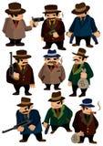 Cartoon mafia icon. Drawing Royalty Free Stock Photos