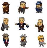 Cartoon mafia icon Stock Images