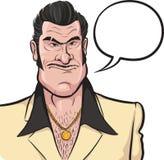 Cartoon mafia man with speech bubble Royalty Free Stock Photography