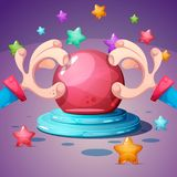 Cartoon magic ball illustration on the white background. Vector eps 10 Royalty Free Stock Photography