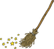 Cartoon magic broom Royalty Free Stock Photos