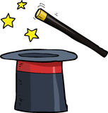 Cartoon magic hat Royalty Free Stock Photo