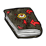 Cartoon magic spell book Stock Images