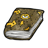 Cartoon magic spell book Royalty Free Stock Image