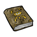 Cartoon magic spell book Stock Image