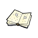 Cartoon magic spell book Royalty Free Stock Photos