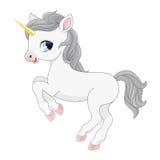 Cartoon  magic unicorn illustration. Royalty Free Stock Photos
