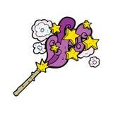 Cartoon magic wand Stock Images