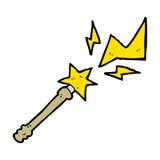 cartoon magic wand casting spell Stock Photography