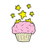 Cartoon magical cupcake Stock Photo
