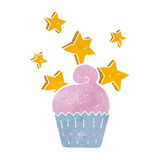Cartoon magical cupcake Royalty Free Stock Photo