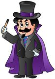 Cartoon magician Stock Photo