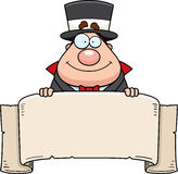 Cartoon Magician Banner Stock Photo