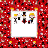 Cartoon magician card Stock Images
