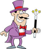 Cartoon magician Stock Photos