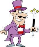 Cartoon magician Stock Photos