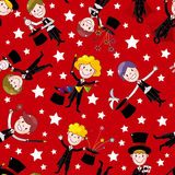 Cartoon magician seamless pattern Royalty Free Stock Photography