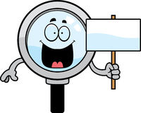 Cartoon Magnifying Glass Sign Royalty Free Stock Image