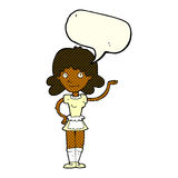 cartoon maid with speech bubble Stock Photography