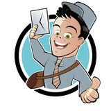 Cartoon mail or postman Stock Image
