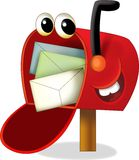 The cartoon mailbox - illustration for the children Stock Photos