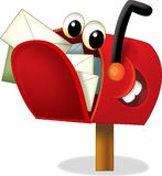 The cartoon mailbox - illustration for the children Royalty Free Stock Images