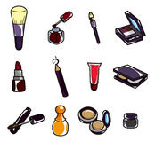Cartoon makeup icon Stock Photography