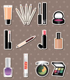 Cartoon makeup stickers Stock Photo