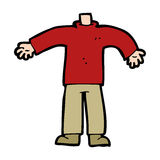 Cartoon male body (mix and match cartoons or add own photos) Royalty Free Stock Photo