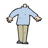 Cartoon male body (mix and match cartoons or add own photos) Royalty Free Stock Images