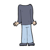 Cartoon male body (mix and match cartoons or add own photos) Royalty Free Stock Image