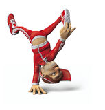 Cartoon Male Break Dancer Royalty Free Stock Images