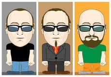 Cartoon Male Characters Vector set Royalty Free Stock Photos